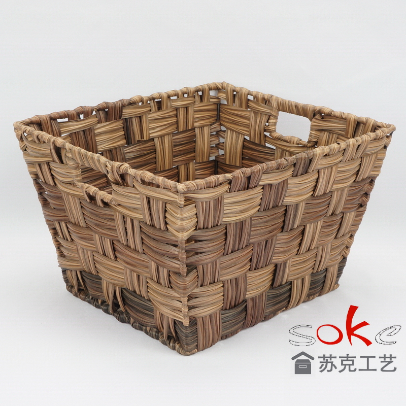 China pe rattan storage basket manufacturers