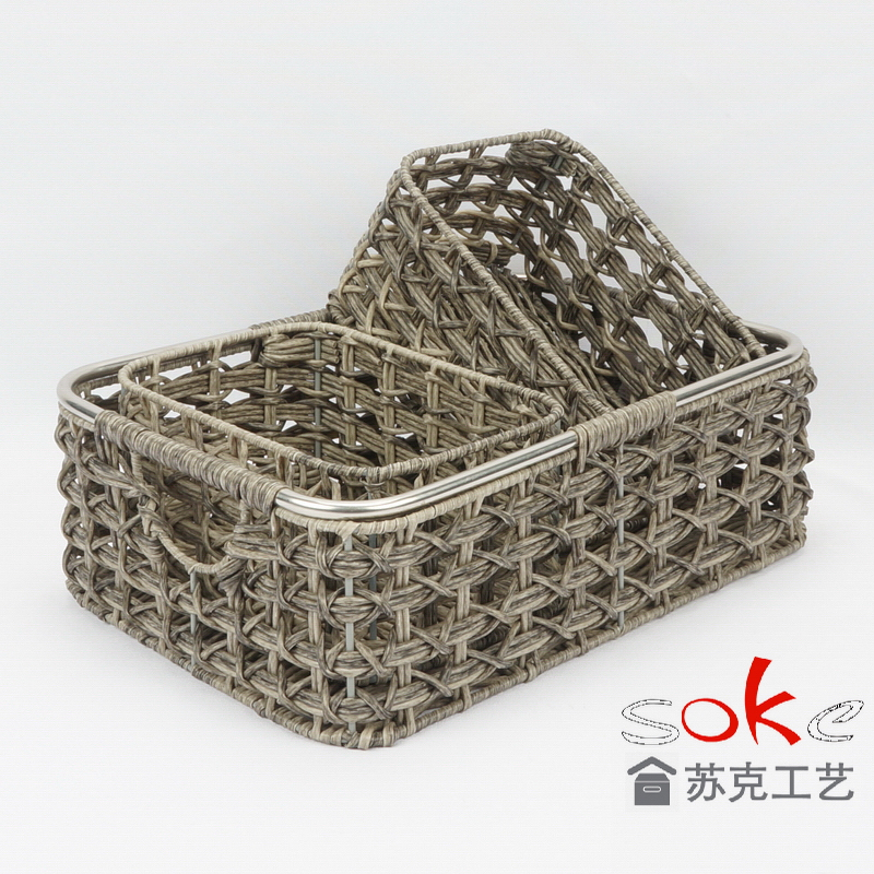 PP Pipe Handle Storage Basket