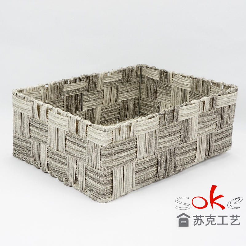 China pe rattan storage basket suppliers for bathroom