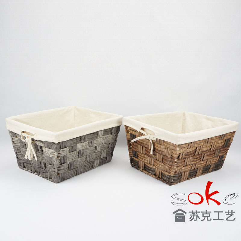 China pe rattan storage basket