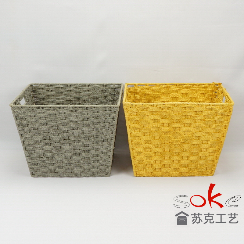 Paper rope storage basket in stock